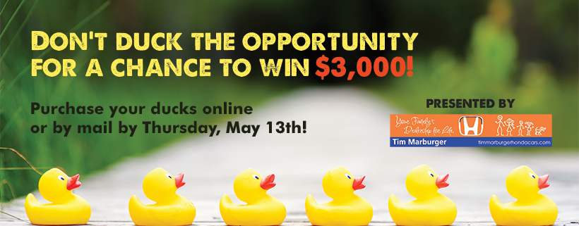 2021 Rubber Duck Derby - click to purchase your ducks online by May 13th
